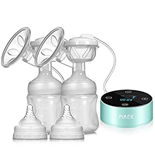 Electric Breast Pump, Dual Rechargeable Portable Breastfeeding Pump Breast Massage with Full Touchscreen LED Display