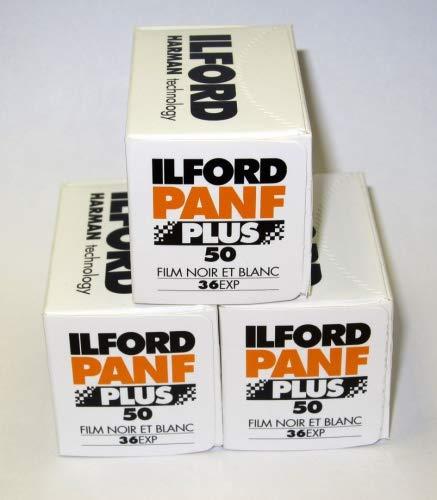 Ilford Pan F+ Filmrollen (35mm, Schwarz/Weiß) 3 Packungen à 36 Stück