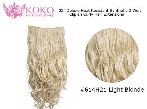 La chaleur de luxe résistant à 3 Trame Extensions de cheveux bouclés - 22\\