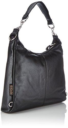 Bree Collection - Brigitte 6, Elephant, Grained Backpack, Borsa Zaino da donna Nero (black 900)