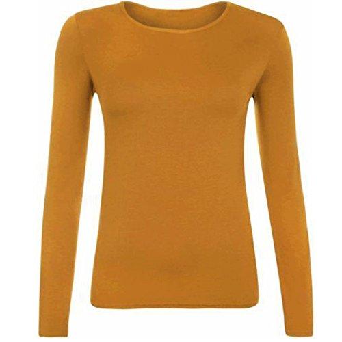 Gugu Fashion Maglia a Manica Lunga - Donna Camel