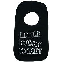 Geordie Genes Newcastle Geordie Baby Bib, Little Worky Ticket, black