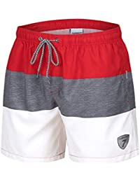 6a121d06939 anqier Men's Swimming Shorts, 18-Inch Boys Swimming Running Casual Quick  Dry Board Beach
