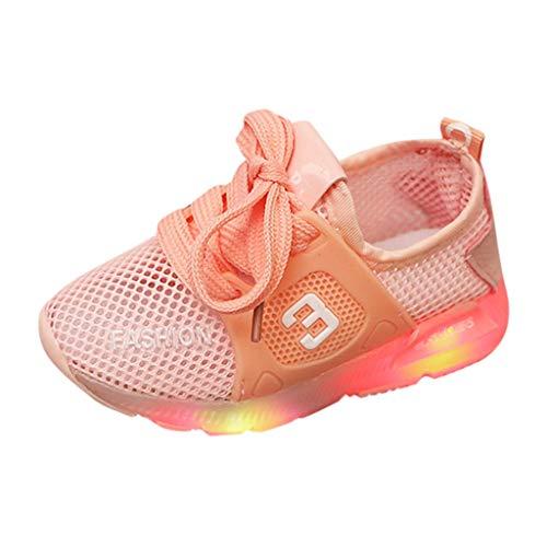 neaker Unisex Baby Atmungsaktive Mesh Turnschuhe Leuchtende Sportschuhe Freizeitschuhe Sommerschuhe ()