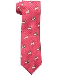 Tommy Hilfiger Men's Reindeer Print Tie, Red, One Size