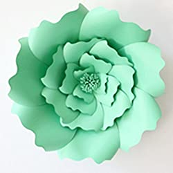 Light Green : JOY-ENLIFE 2pcs 20cm DIY Paper Flowers Kids Birthday Party Backdrop Decor Wedding Party Hen Party Home Room Decor Supplies