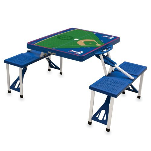 mlb-texas-rangers-baseball-field-design-portable-folding-table-and-seats-blue-by-picnic-time