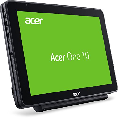 Acer One 10 S1003 1298 2565 cm 101 Zoll HD IPS Multi contact 2 in 1 Notebook Intel Atom x5 Z8350 2GB RAM 32GB eMMC SD Kartenleser Win 10 schwarz Notebooks