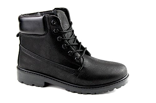 Herbst/Winter Damen Herren High Top Stiefel Winter Boots Sport Freizeit Schuhe 40-45 Black