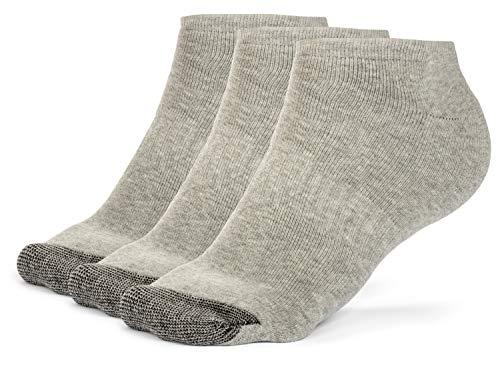 Galiva Damen Socken, Sneakersocken, gepolsterte extra weiche, Low cut Baumwollsocken - 3 Paar, Groß, Grau - Gepolsterte Womens Athletische Socken