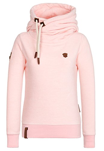 Naketano Female Hoody Glitzermuschi Rose Melange, XL (Pullover Fleece Hoody)