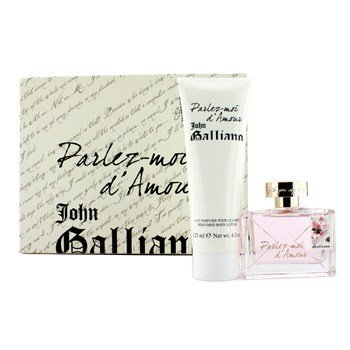 Liebe Liebe Coffret (John Galliano – parlez-moi D Liebe Coffret: Eau De Toilette Spray 50 ml/1.7oz + Perfumed Body Lotion 125 ml/4.2oz Videoleuchte – Damen Duft)