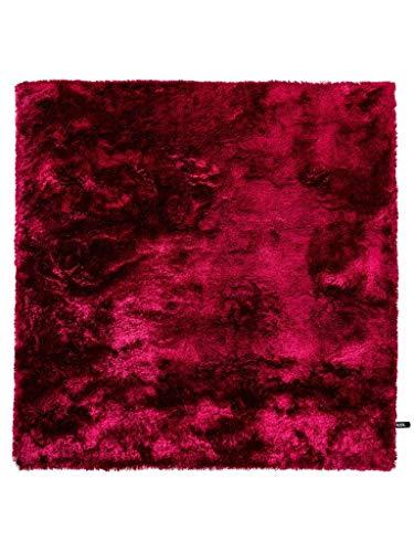 Benuta Shaggy Hochflor Whisper Quadratisch Pink 60x60 cm | Langflor Te