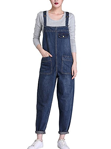 671ba6c32b6 Sobrisah Women Regular Fit Denim Dungarees Long Overalls Jumpsuit Playsuit  Jeans Trousers 3XL UK-16