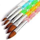 5 Pcs Acrylic Design Nail Art UV Gel DIY Brush Pen Nail Art Tool Set No. 4/6/8/10/12