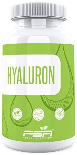 Hyaluronsäure hochdosiert 90 Kapseln, 400 mg pro veganer Kapsel, Hyaluron mit 500-700 kDa - von der...