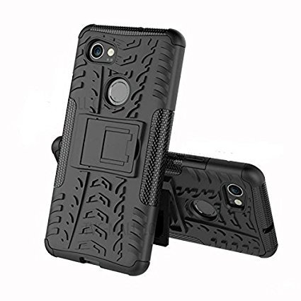 Dual Layer Hybrid Armor Stand Cover Case Protector Back Cover Kickstand for Micromax Yureca - Black by Ransim Accessories