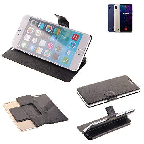 K-S-Trade Schutz Hülle für Allview Soul X5 Style Schutzhülle Flip Cover Handy Wallet Case Slim Handyhülle bookstyle schwarz