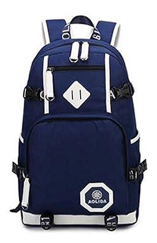 YANFEI Heller Freizeit-Laptop-Rucksack fo zu 15.6 Zoll Laptop-Multifunktions Retro Art- und Weiseart-große Kapazitäts-Schulter-Rucksäcke , blue