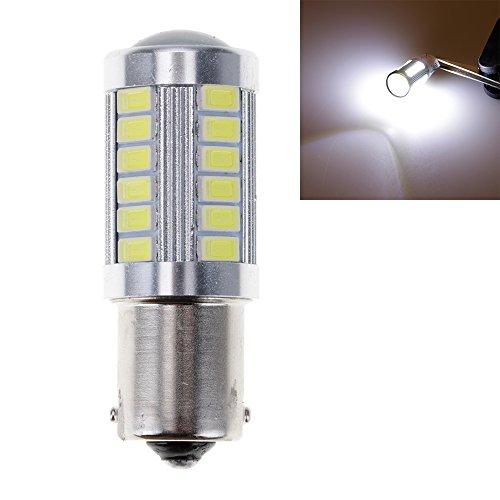 VANKER Véhicule P21W 1156 33 LED SMD Feu de Signalisation du Côté Arrière de la Voiture Ampoule(Blanc)