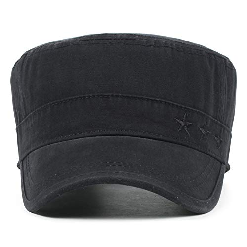 Imagen de itemer 1 pieza moda retro  militar unisex casquillo ocasional del sombrero casquillo que sube al aire libre verde alternativa
