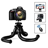 Camera Phone Tripod, Flexible Trvel Tripod Stand with Cell Phone Clamp, Small Octopus