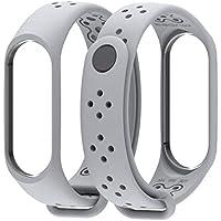 Cooljun pour Xiaomi Mi Band 3, Bracelet Anti-Off en Silicone de Remplacement Durable