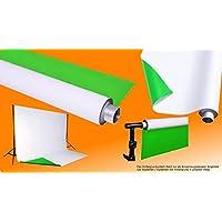 moderntex Vinylhintergrund Duo, 2m breit x 3m lang, grün & weiß, zweifarbig
