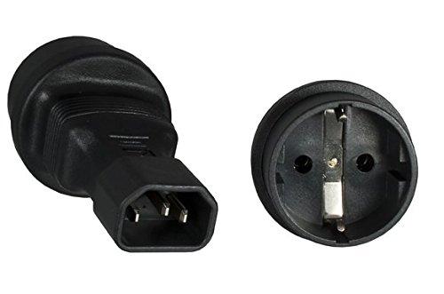 Adapter: Schutzkontaktbuchse auf Kaltgerätestecker. Stromadapter. Schutzkontaktadapter. C14