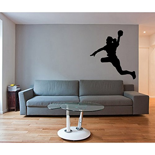Aufkleber Handballspielerin, silber, L 20cm x H 21cm