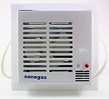 Detector de Gas y extractor de gas de fácil instalación. Sensor de Gas de detección inmediata. Detector Gas natural, ciudad, propano o butano para locales o viviendas