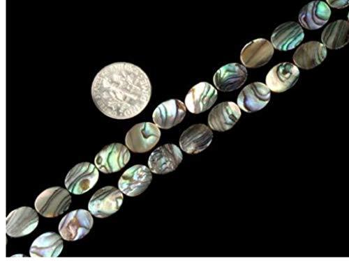 """Gamloious Oval Natürliche Abalone Muschel Perlen 15"""" Strand Schmuckherstellung Perlen 8 x 10mm"""