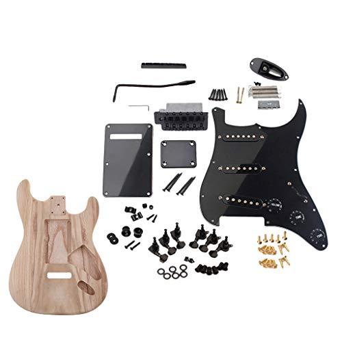 sharprepublic DIY Doppel Schnitt Bausatz E-Gitarre (E-Gitarre Bausatz, Korpus: Mutter, Gurtknopf, 6R-Stimmwirbel, Nackendichtung, Hubplatte, Schrauben)