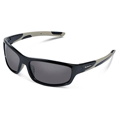 Duduma Polarisierter Sport Sonnenbrille für Baseball Skifahren Golf Laufen Radsport Angeln Reiten Fahren mit Unzerbrechlich Rahmen Du645 (Schwarz Rahmen mit Schwarz Linse)