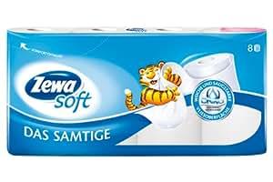 """Zewa Soft Toilettenpapier """"Das Samtige"""" weiß, 8 Rollen"""
