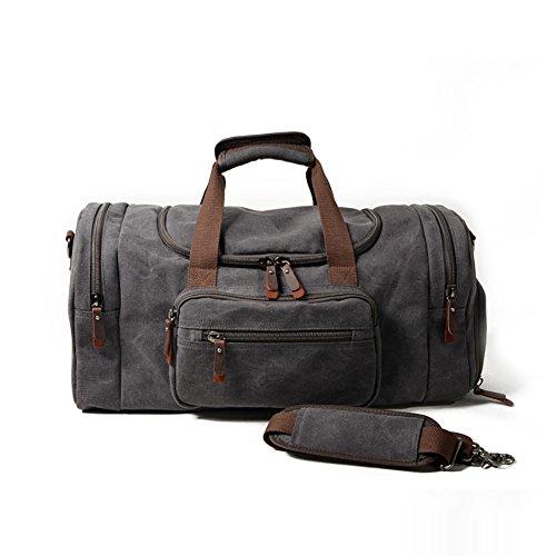 YAN Gepäck Tasche Übergroße Leinwand Weekender Bag Große Reise Tote Gepäck Herren Duffle Bag für Frauen und Männer -