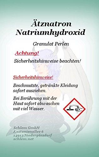 Schlem GmbH Ätznatron Natriumhydroxid Perlen NaOH Caustic Soda Seifennatron 2Kg -