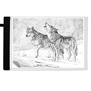 Super Thin A4 Light Box Tracing Pad LED Art Drawing Board USB Power Light Pad with Brightness Tracing Design Light Box