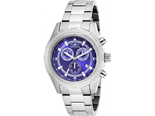 INVICTA SPECIALTY 17729 GENTS 45MM GREY STEEL BRACELET & CASE CHRONOGRAPH WATCH