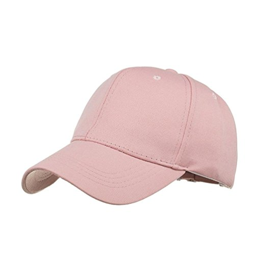 Fuibo Kappe für Herren und Damen, Mode Frauen Männer Einstellbare Sommer Solide Glitter Cap Hüte Baseball Hut Schatten| Basecap, Baseball Cap, Verstellbar (Pink) (Baumwoll-baseball-jersey Solide)