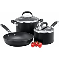 3 Piece Circulon Premier Professional Hard Anodised Cookware Set (Black)
