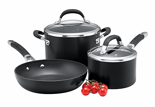 Circulon Premier Professional Hard Anodised Cookware Set, 3-Piece - Black