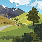 Pop Up 3D Karte Geburtstag Grußkarte Fahrrad Tour Berge 13x13cm