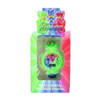PJ Masks 17026 Digitaal horloge voor kinderen, uniseks, met kunststof armband