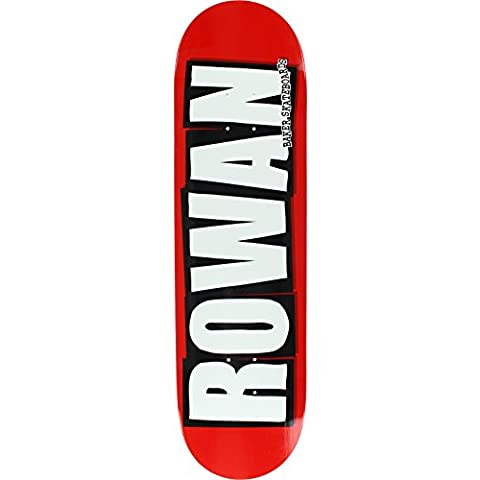 Baker Skateboards Rowan Zorilla Logo Red / White Skateboard Deck - 8 x 31.5 by Baker
