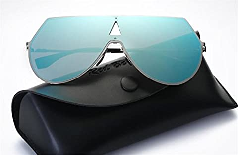 JJH-ENTER Des lunettes de soleil mode Créatif Branché Grosse boite Des lunettes de soleil mâle Femelle , blue