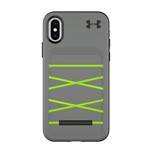 Under Armour UA Schützen Arsenal Case für iPhone X - Graphit/Quirky Lime
