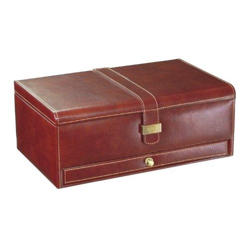 Dulwich Designs Heritage Manschettenknopf- und Uhren-Box, für 10 Stück, Braun