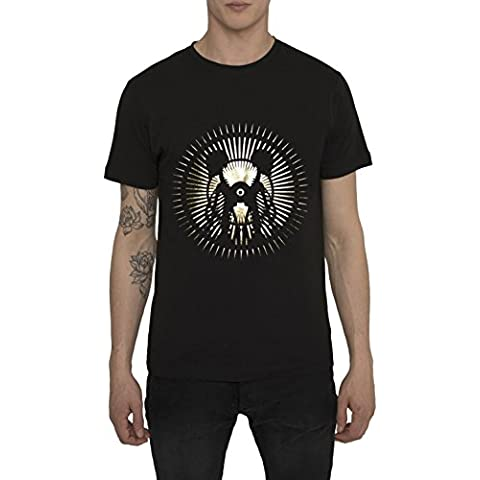 Camisetas para Hombre, T Shirt Cool Fashion Rock, Camiseta Negra con Estampada - LA LUNA Designer Vintage Metal Style T-shirt de Algodón, Cuello redondo, Manga corta, Ropa Moda Moderna S M L XL XXL