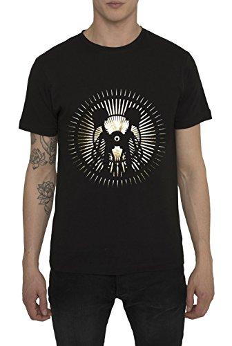 Maglietta Moda da Uomo, T Shirt Vintage Fashion Rock, Maglia Metallica, Nera con Stampa - LA LUNA Designer Magliette di Cotone, Girocollo, Manica Corta, Maglie Urban Cool per Uomo S M L XL XXL